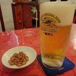 金燕閣 - 3杯1000円の生ビール 1杯目