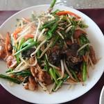三栄飯店 - レバにら(レバにら定食)