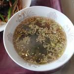 三栄飯店 - スープ(レバにら定食)