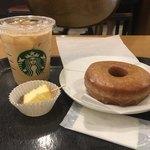 スターバックスコーヒー - シュガードーナツ248円+スターバックスラテはアンケートサービス