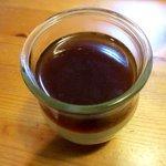 菓司庵 いずみ野 - ほうじ茶ジュレとプリンの2層仕立て!