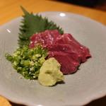 牛肉専門 ぶんご牛肉店 - ☆ハツの刺身(^◇^)☆