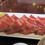 焼肉 海王 - 牛タンは上タンとタン先の2種類の組合せでした。