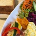 Pankoubounananinshimai - いろいろ具材をのっけてサンドイッチごはんに