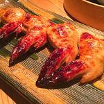 味のなかむら - 赤鶏手羽のとうもろこし詰め醤油焼