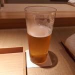 黒門町 紋屋 - 生ビール飲みかけ