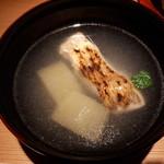 黒門町 紋屋 - ノドグロと蕪、胡瓜のお椀