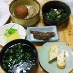 87991220 - 本マグロ大トロ串揚げとアジフライ定食の小鉢