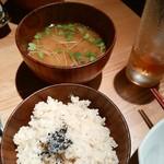 毎日のおいしいもの まとか - 玄米ご飯、味噌汁