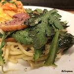 87993560 - いわて鴨のスモークと菊菜のジンジャーソース