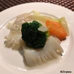 中国料理 空 - 帆立貝柱と烏賊の塩味炒め