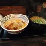 博多そば処 うえ村 - かつ丼とそばセット750円