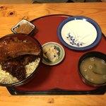 一休庵 - ジャンボロースソースかつ丼 1200円