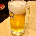松屋 - 「生ビール」(180円)。