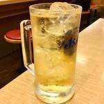 松屋 - 「ハイボール」(150円)。ビールよりコスパは高いのでオススメっぽい。