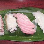 桂すし - 烏賊、トロ、鮑、鯛