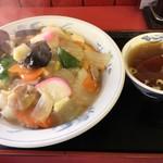 88001467 - 「中華丼(大盛り)」700円+大盛り150円也。