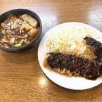 福とん - 料理写真:豚汁 240円、中とんかつ 400円