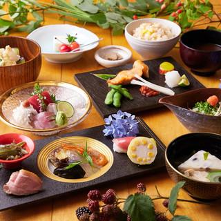 土曜日は旬の食材を活かした特別コースの用意もございます。
