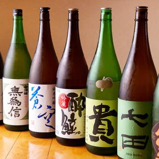 料理に合わせた日本酒を日替わりで用意しております。
