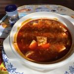 バーミヤン - 山椒とラー油のシビから赤麻婆豆腐 赤麻婆シビから増し