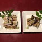 八べえ - 多摩川の釣り鰻の白焼と塩焼