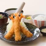 かつ時 - 海老フライ定食