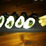 ワイン食堂 つれづれ - 広島菜の海苔巻きにぎり?