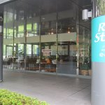 ハローRKB - お店はRKB放送会館の入り口左側にあるからすぐにわかりますよ。
