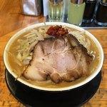 Miyakohanten - 魚介系鶏パイタン味噌                                                             麺1.5玉 みそじろう!