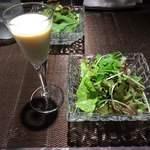 レストラン キモト - スープとサラダ