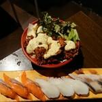 個室×海鮮 海鮮炉端 産地直送北海道 - カキフライとお寿司