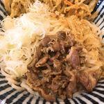 せんしゅう - 細麺肉天冷しぶっかけうどん アップ