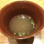 はつね寿司 - 南蛮海老の頭のお出汁椀