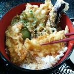 割烹まつ井 - 野菜の天ぷらがいっぱい
