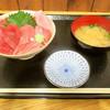 ふじやす食堂 - 料理写真:まぐろ三昧丼 味噌汁