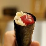 天ぷら たけうち - 沖縄 本鮪 天草一番海苔