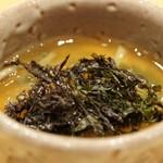 天ぷら たけうち - 海苔の茶碗蒸し