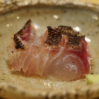 天ぷら たけうち - 料理写真:上五島の伊佐木 2週間熟成 魚醤焼