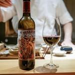 肉割烹 上 - ☆グラスワイン(赤)
