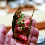 肉割烹 上 - ☆牛手巻き