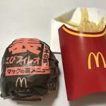 マクドナルド - ウラモノビンボー!   裏えびフィレオ+マックフライポテト Lサイズ♡