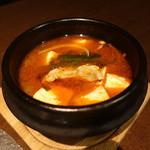 豚美 - ☆大山もち豚と豆腐のピリ辛チゲ(^O^)/☆