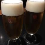 歓中店 - 生ビールで乾杯です