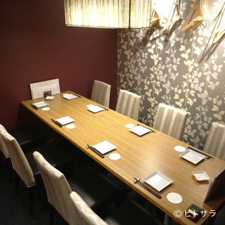 接待に最適な完全個室と厳選ワイン&洋食