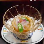 銀座 結 中條 - 先付 烏賊(神津島)素麺