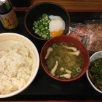 すき家 - 料理写真:まぜのっけご飯朝食