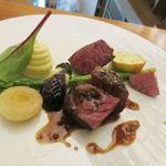 Chez TAKA HIGASHIAZABU - シェタカ特性熟成牛の網焼き