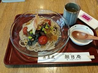 朝日庵 - 夏野菜とあさりの冷かけ蕎麦