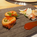 焼肉エクセレント - 海鮮とフルーツのポッサムキムチ